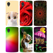 Buy Case LG Google Nexus 5 E980 D820 D821 Back Cover Flower Plants Original Hard Plastic Printed Cute Cat Owl Animal Phone Case for $2.69 in AliExpress store