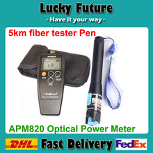 FTTx fiber optical test tools,Optical power meter + 5KM red laser light pen (10km~25km price higher)