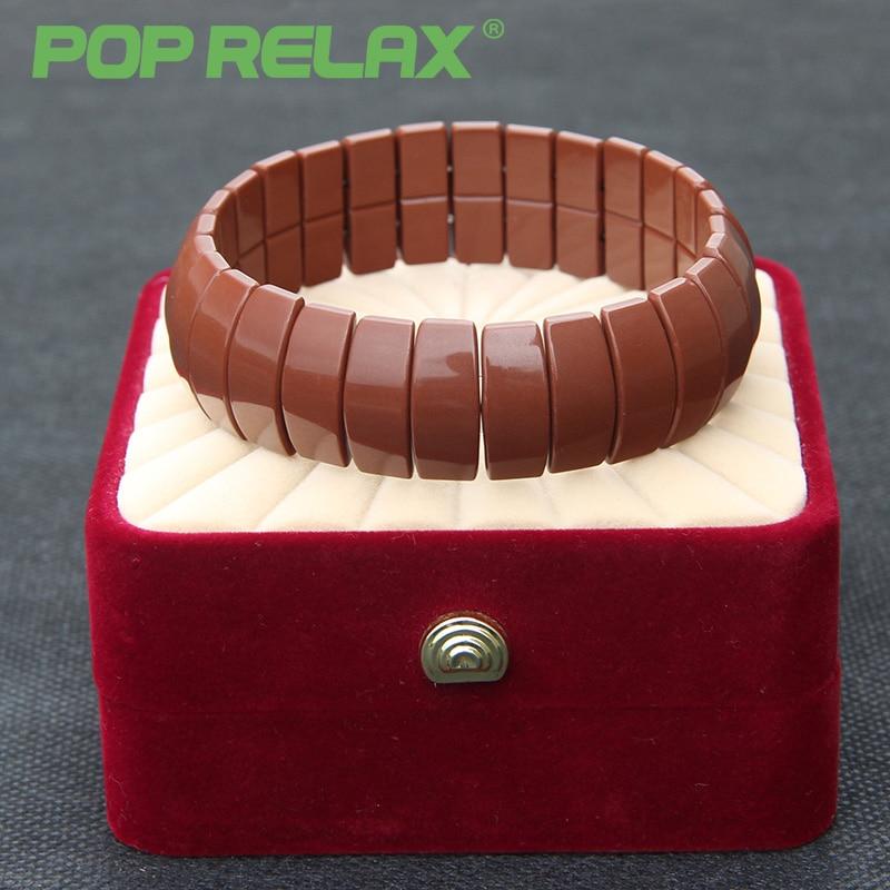 POP RELAX health care Korea tourmaline germanium bracelet energy negative anion physical therapy new fashion stone bracelets men<br>