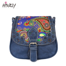 2017 New National style women messenger bags vintage shoulder bag leopard ladies crossbody 9 colors BAGM6180(China)