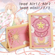Cosplay anime card captor sakura cardcaptor sakura cartoon bag pouch for  iPad air 1 2 ipad min 1 2 3
