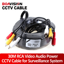 RCA cable 100FT/30M the Audio cable Video Power AV Black Cable for DVR CCTV Security Surveillance Camera