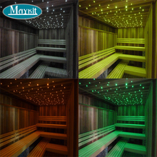 Maykit LED Fiber Optic Lights for Steam Room Decor with Shimmer Light Illuminator and Waterproof End Emitting Polymer Cable(China)