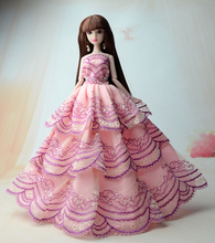 NK NK 2017 New handmake wedding Dress Fashion Clothing Gown For Barbie doll Free shipping 005H