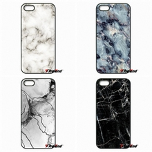 For Xiaomi Redmi Note 2 3 3S 4 Pro Mi3 Mi4i Mi4C Mi5S MAX iPod Touch 4 5 6 Fashion Marble Stone Wihte Black texture patter Case(China)