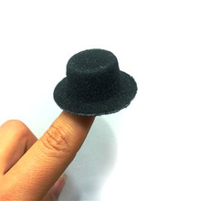 24pcs/lot Free Shipping Hen Party Felt Mini Top Hat Fascinator Base. DIY Mini hat 4cm BJD Doll hat(China)