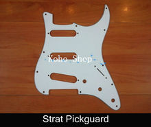 White 3-PLY Electric Guitar Pickguard For Strat Style Guitar Wholesales Free Shippng