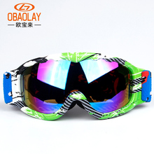 Kids Ski Goggles Snowboard Goggles Boys Girls Skiing Eyewear Glasses Windproof Anti-Fog UV400 Child Snow Google OBAOLAY Brand