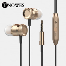 Stereo HeadPhone In Ear Earphone Metal Handsfree Headset with Mic 3.5mm Earbuds For All Phone MP3 Player