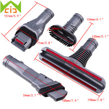 4PCS Vacuum Cleaner Attachment Accessories Head Brush Rods Connector Tool Set Cleaning Brush Head stofzuiger motoren(China)