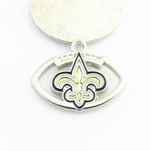 New Orleans Saints 20pcs/lot USA Football NFL team logo Floating  Dangle Charms pendant for DIY bracelet&necklace Jewelry