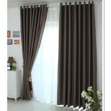 Free shipping High precision shade cloth solid color chocolate French window kitchen curtains for living room bedroom customize