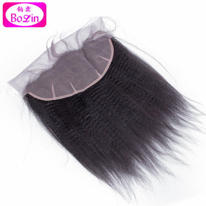 Stock 7A Malaysian Virgin Hair Lace Frontal Closure 13X6 Kinky Straight Nautral Color 120%Density Bleached knots With Baby Hair<br><br>Aliexpress
