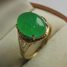 latest design jewelry lady's fashion GP green  jades  ring (7,8,9#)