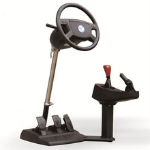 Chinese school Emulate Computer game steering wheel / car driving simulator training aircraft /automobile race/ video software