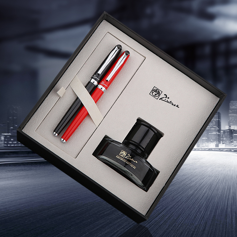 2pcs/lot Pimio Picasso T708 0.5mm Nib Fountain Pen + 0.38mm Extra Fine Nib Fountain Pens Luxury Gift Set  with A Bottle Ink<br>