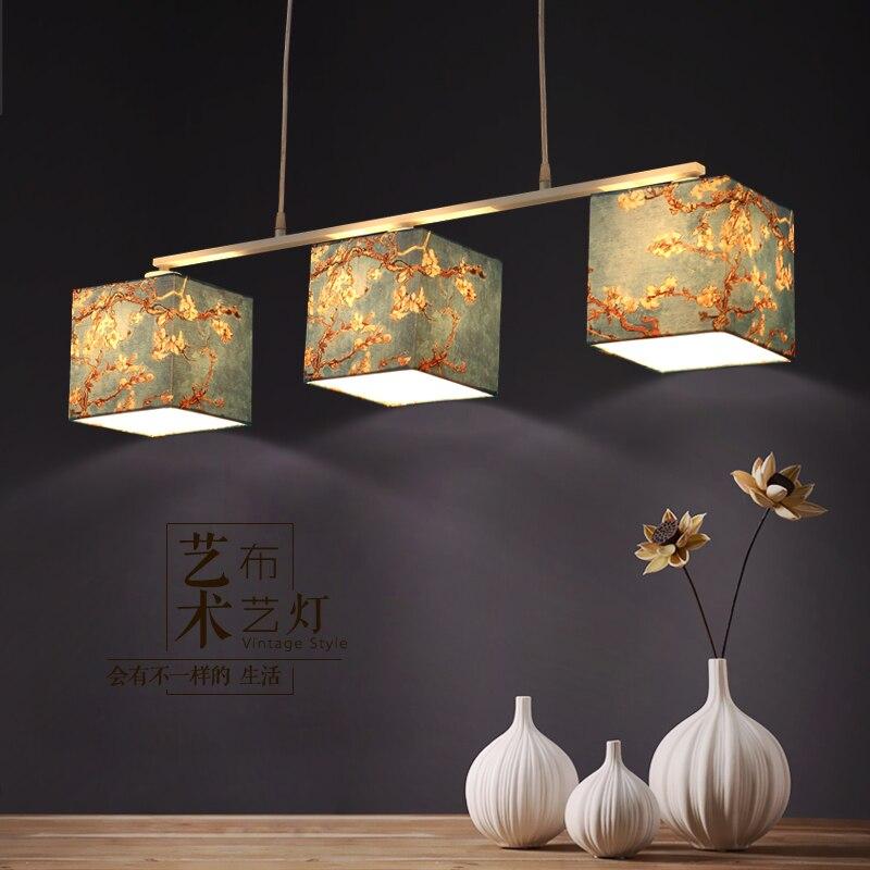 3heads Nordic led pendant light  Fabric pendant lighting  restaurant hotel living room lamp home decoration lighting <br><br>Aliexpress