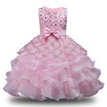 Baby Girls Dress Children Kids Dresses For Girls 1 3 4 5 6 7 8 10 Year Birthday Outfits Dresses Girls Evening Party Formal Wear(China)