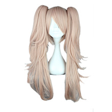 MCOSER 65CM Straight Synthetic Cosplay Wig Light Pink Color With Two ponytails  100% High Temperature Fiber Hair WIG-502B