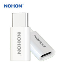 NOHON USB Type-C Cable Adapter To Micro USB Charger For Xiaomi 4C Meizu Oneplus Nokia MacBook Quick Charge Data Sync Connector(China)