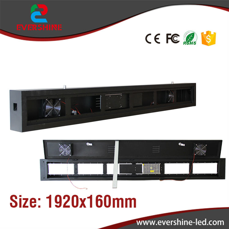 OEM/ODM Standard Waterproof Outdoor led display cabinet for P5 320mm*160mm led modules / cabinet Size 1920*160mm <br><br>Aliexpress