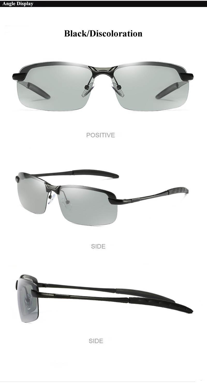 RoShari New photochromic Sunglasses men top quality All-weather Discoloration Professional driving Sun glasses men oculos D3043 7