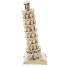 BOHS Wooden Miniature  3D Puzzle Building Educational Toys the Leaning Tower of Pisa Scale Models