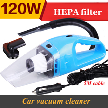 SALBEITECH Portable Car Vacuum Cleaner 5m 120w 12v Super Suction Wet And Dry Dual Use(China)