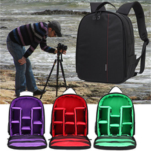 Video Photo Digital Camera Shoulders Padded Backpack Bag Case Waterproof Shockproof Small Bags For Canon For Nikon For Sony