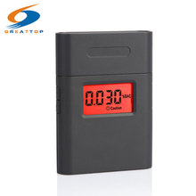Prefessional Police Portable Breath Alcohol Analyzer Digital Breathalyzer Tester Body Alcoholicity Meter Alcohol Detection(China)