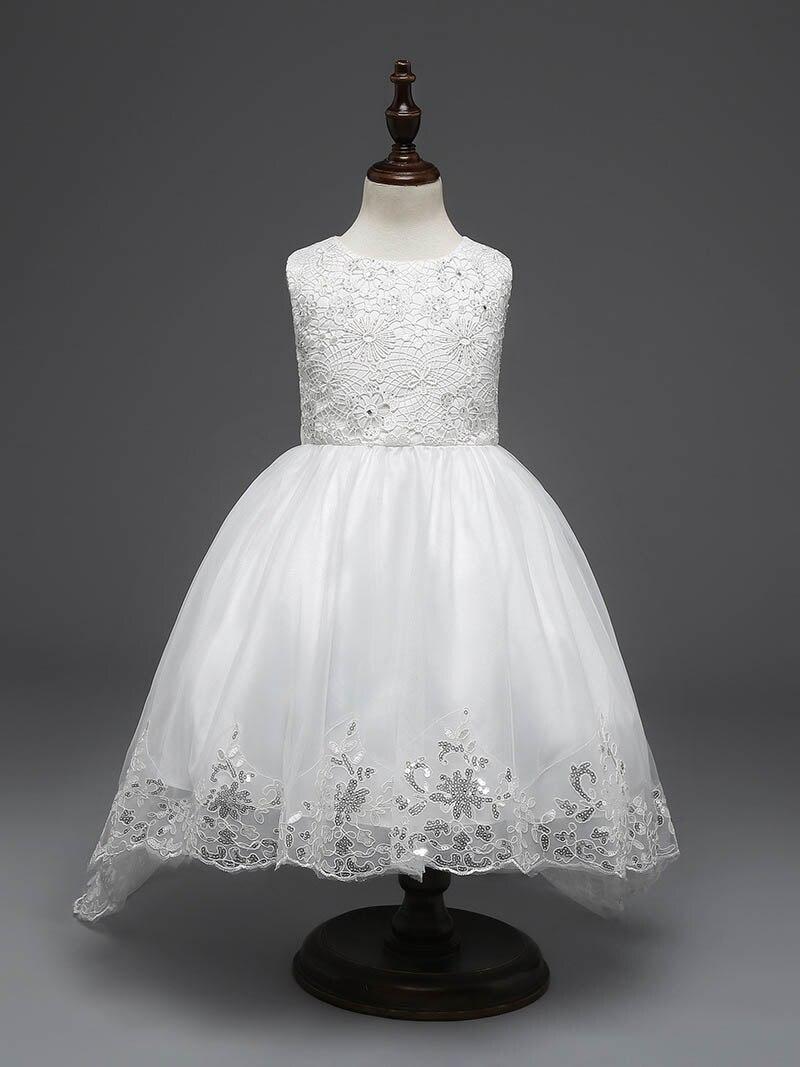 Longer Summer Princess Girls Wedding Dress Baby Cloth Dress Children Party Dresses Fashion Cloth Flower For Birls 4-12T Children<br><br>Aliexpress