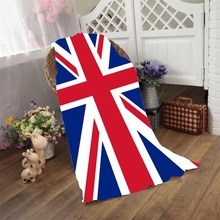 New Arrival Flag of the United Kingdom Bath Towel Vertical United States Flag Beach Towel Hotel Bathroom Shower Drying Washcloth