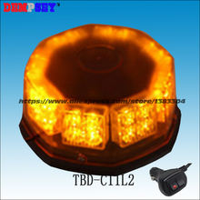 TBD-C11L2 Yellow LED Warning Rating Lamp/LED Strobe Flashing Light Beacon/Truck Amber Warning Beacon/LED Lights with Cig Plug