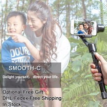 Zhiyun Smooth C + Plus 3 Axis brushless handheld stabilizer gimbal Zhiyun Z1 Smooth C smartphone for iphone 6 plus smooth-c(China)