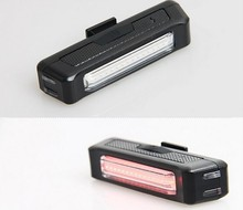 Waterproof Comet USB Rechargeable Bicycle Head Light High Brightness Red LED 100 lumen Front / Rear Bike Safety Light Pack(China)