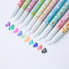 10Pcs/Set Flower Gel Pens Set Kawaii School Supplies Office Stationary Photo Album Kawaii Pens Stationery Gel Ink Pen(China)
