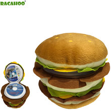 RACAHOO Free Shipping CD Case Double Burger CD Pack Cartoon Plush Toys 40 Disc Capacity Can Be Stored CD VCD DVD CD-R CD-RW
