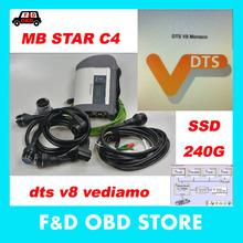 V2017.9 mb star c4 100925 with Software DTS Monaco+ vediamo +xentry+DAS+EPC Complete super engineers SSD win7 with best price(China)