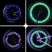 DONSUNG Colorful Bicycle Light Cycling Wheel Spoke Light 14LED 30pattern Waterproof Drop Shipping Bike Accessories Bicycle Light