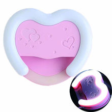 new led Selfie Ring Light LED Photography Heart Shape Beauty Fill Light USB charging for the Smart Phones (Pink)(China)