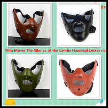 Free shipping Film Movie Cosplay The Silence of the Lambs Hannibal Lecter mask Masquerade Halloween cosplay dancing party mask
