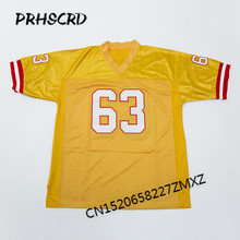 Retro star #63 Lee Roy Selmon Embroidered Throwback Football Jersey(China)