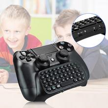 NEW 3-5mm Plug Black Mini-Wireless Chatpad Message Keyboardfor Sony for PlayStation 4 for PS4 Controller With USB Cable