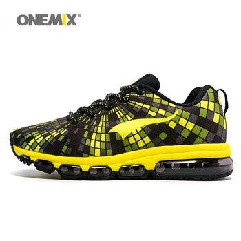Hombres de los zapatos corrientes onemix elástico femenina zapatilla de deporte pareja ligero athletic zapatos chaussures hommes unisex zapatos para adultos