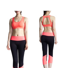 2017  women sport bras newest halter sports bra without rims gather quick-drying anti-static aerobics training vest D048