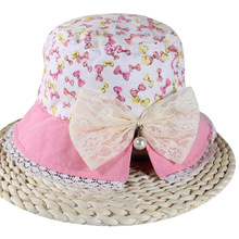 Best Selling Infant Summer Hats Breathable Children Sun Hat Bowknot Flower Baby Caps for Boy Girl Clothing Accessories