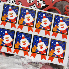 80pcs/lot Christmas stickers Santa Claus bowknot adhesive sticker Candy box gift card decoration Holiday party supplies