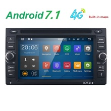 Android 7.1 Auto Radio Ouad Core 6.2Inch 2DIN Universal Car DVD player GPS Stereo Audio Head unit Support WIFI DAB DVR OBD2(China)