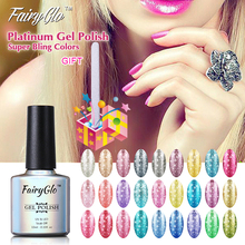FairyGlo 10ml Bling Gel Polish Nail Art Set Buffer File Platinum Bling UV Gel Nail Polish Manicure Tools Acrylic Nail Kit Lucky(China)