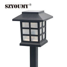 SZYOUMY Hot Waterproof Cottage Style LED Solar Garden Light Outdoor Garden Path Lawn Post Lamps Decoration Landscape Lighting(China)